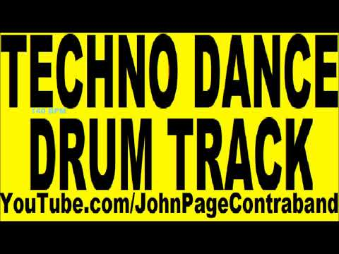Techno Dance Drum Track Beat Song 140 bpm DRUMS ONLY edm