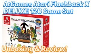 Baixar AtGames Atari FLASHBACK X 10 DELUXE Unboxing & Review, 120 Games