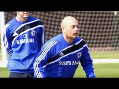 Chelsea Training with carlo ancelotti