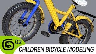 Моделим детский велосипед. Часть 02.