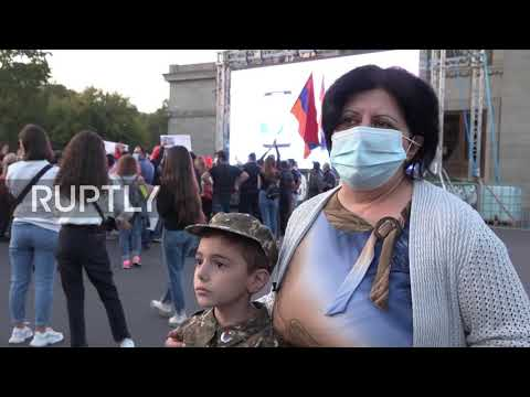 Armenia: Protesters march to embassies in Yerevan, demand Nagorno-Karabakh's independence