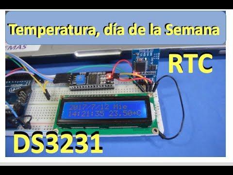 ✅ Temperatura, Día de la Semana, Hora, Fecha  RTC - DS3231