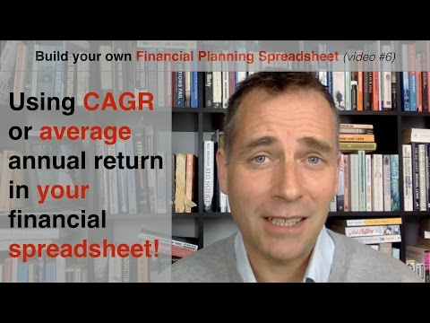 Build your own Financial Planning Spreadsheet (part 6) - CAGR vs average return