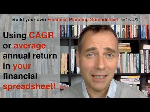 Build your own Financial Planning Spreadsheet (part 6) - CAGR vs average return