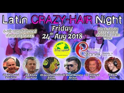 Latin Crazy Hair Night - DJ Announcement
