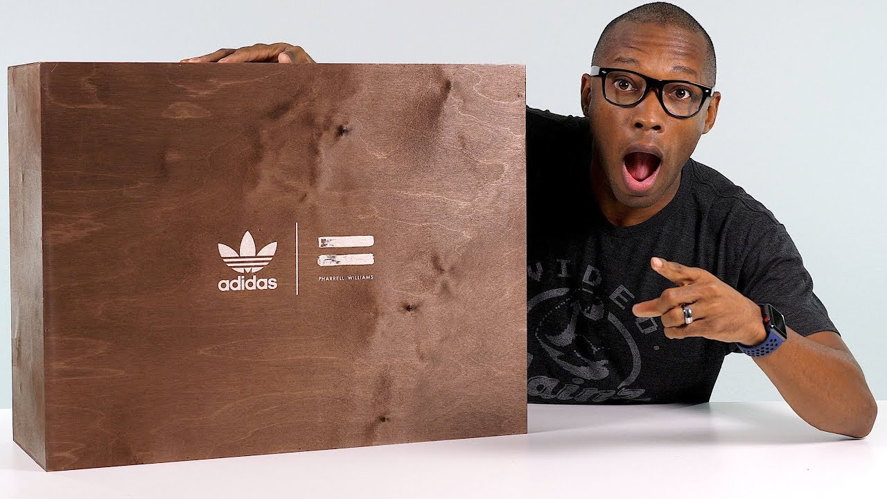 9ac07d320 UNBOXING  INSANE adidas BOOST Sneaker Package From Pharrell Williams   Collection