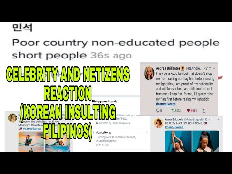 Trending: KOREAN INSULT FILIPINO | Celebrity and Netizens reactions|