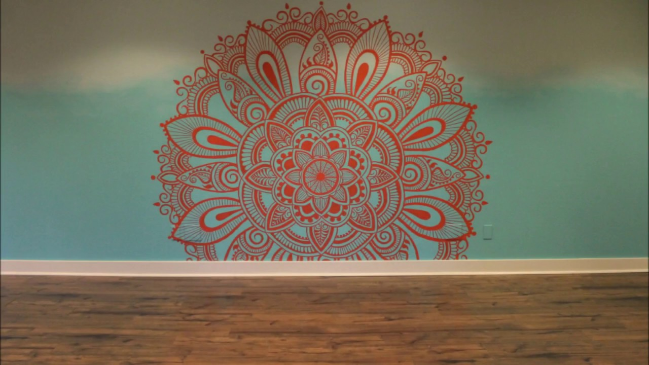 Mandala mural timelapse youtube for Mural mandala
