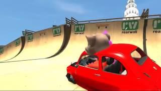 Говорящий Кот Том Мультик Игра про Машинки   Дисней Машинки   Детские Песни