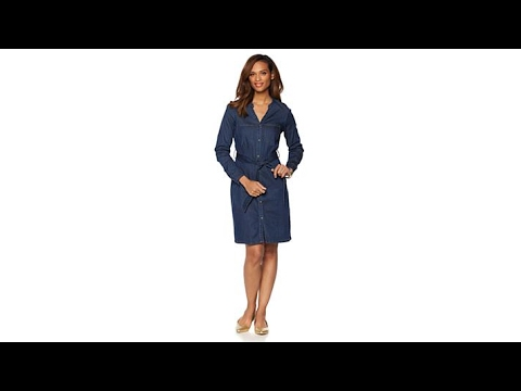 Wendy Williams Belted Denim Shirt Dress. http://bit.ly/2FwJ1RD
