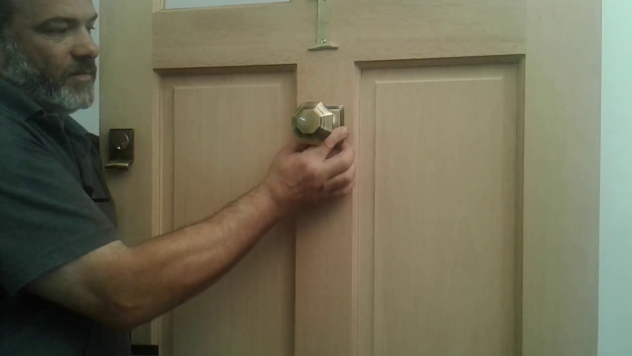 How to fit a centre door knob to your door - YouTube