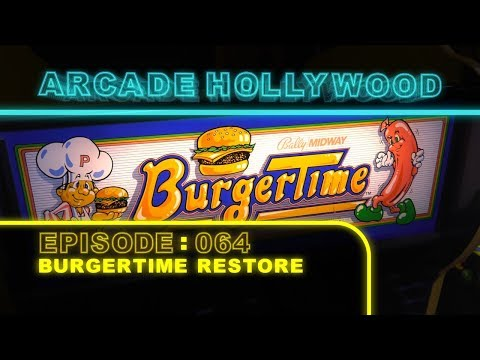 Burger Time Arcade Game (1982 Bally Midway)