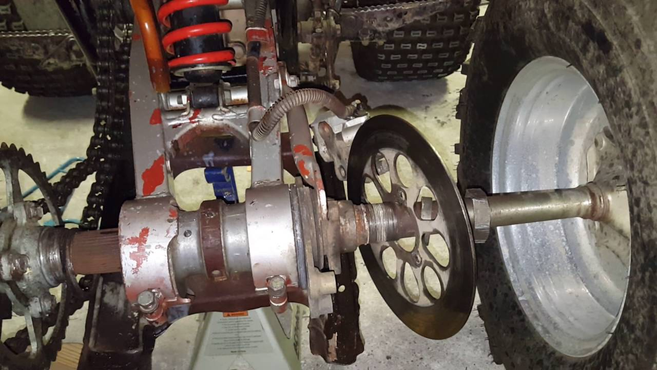 Suzuki lt230r rear axle bearing replacement