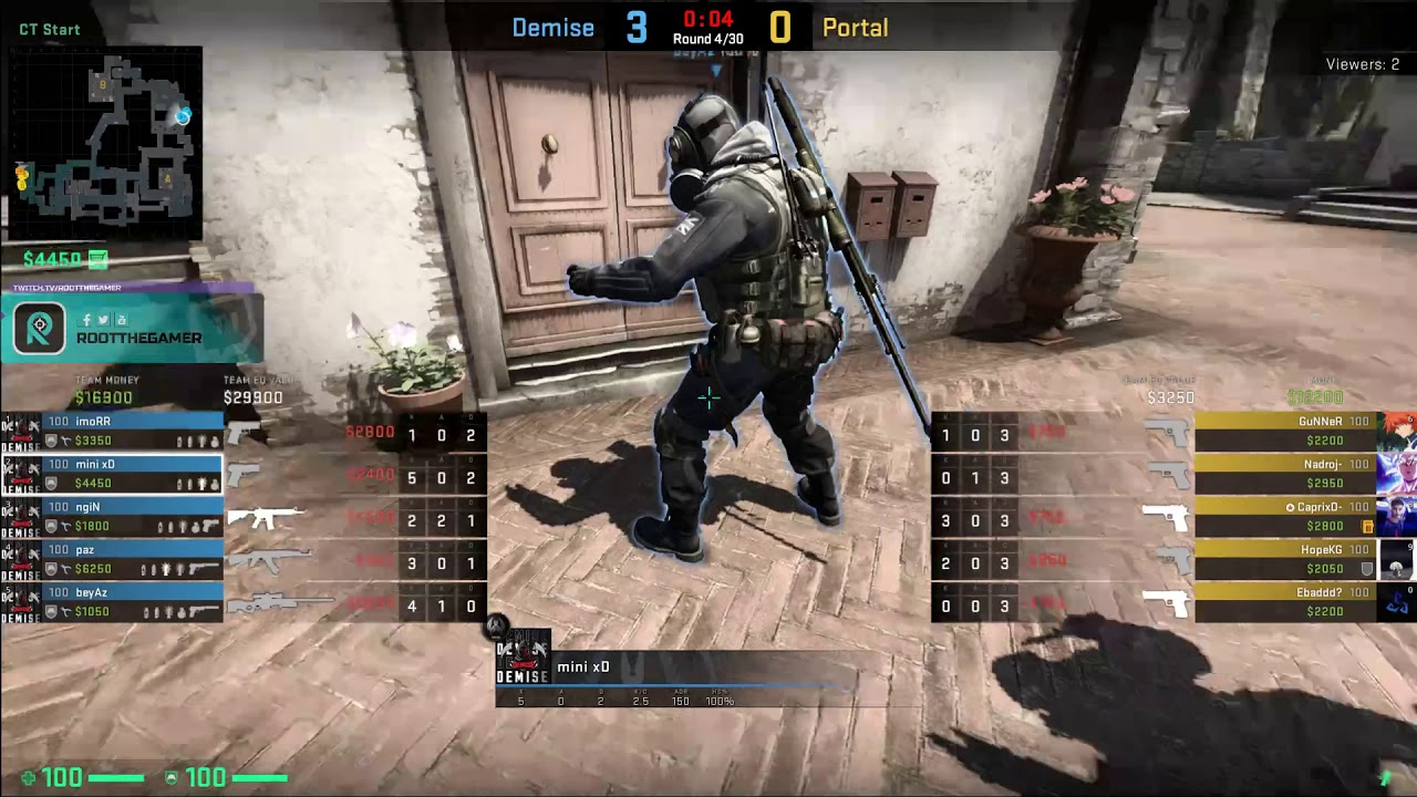 DEMISE GG vs. Portal Blue Videosu