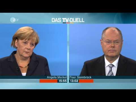 Das TV Duell Merkel Steinbrueck 01.09.2013 Sender ZDF