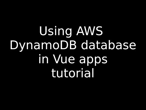 AWS DynamoDB: How to use a dynamoDb database in your Vue app thumbnail