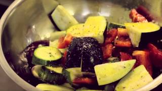 Ministry of other vegetables - Roast vegetables with a red pepper dressing recipe