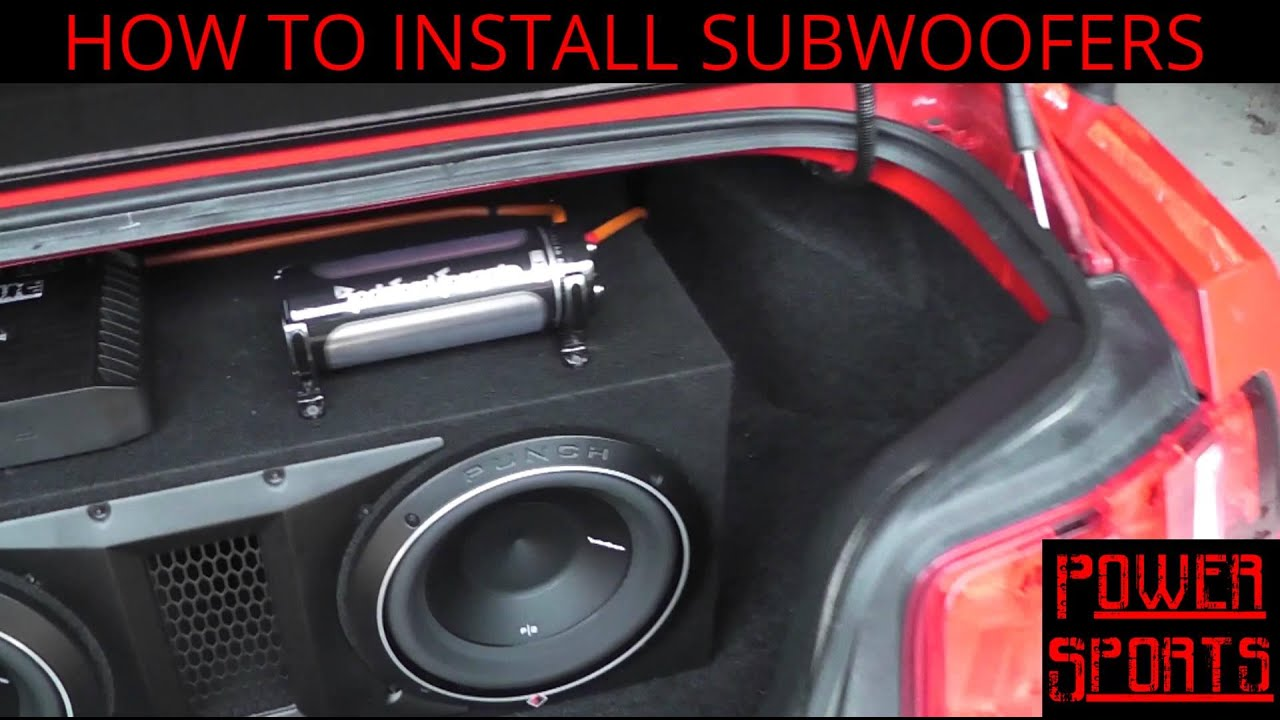 Powered Subwoofer Home Audio Wiring Diagrams 3 Way Led Dimmer Switch Diagram With Amp And For Cap Free How To Install Subwoofers In A Ford Mustang Part 2 The Rh Youtube Com Single