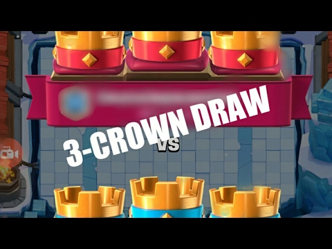 3 CROWN DRAW:Clash Royale -using rocket............