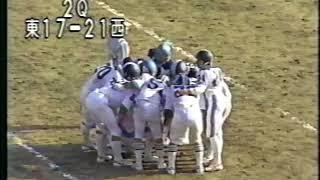 ライスボウル1983年1月 東西学生選抜(最終)
