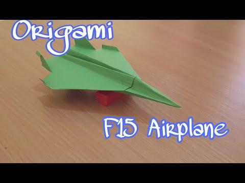 Video Cara Membuat Pesawat F15 Dari Kertas