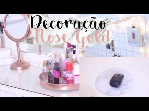 DIY PINTEREST // Decoração Rose Gold