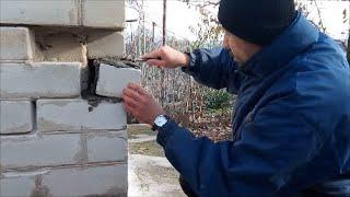 Решили заделать трещину а попали на целый угол Каким цементом пользуемся Как красиво затереть швы