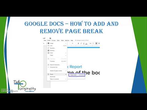 Google Docs - Insert And Remove Page Break