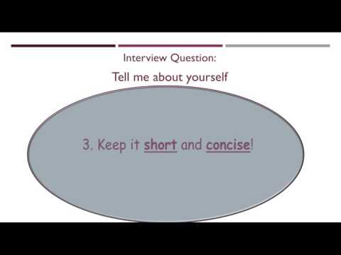 Interview Question: Tell Me About Yourself