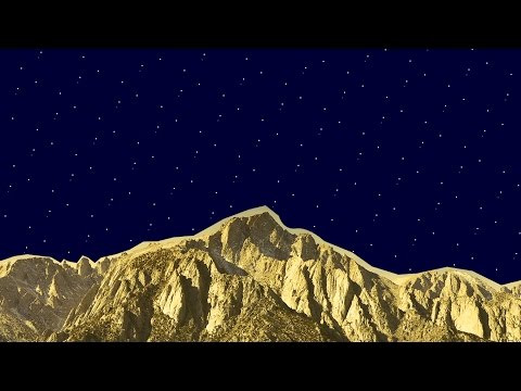 Gold Mountains - Blue Sunset
