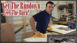 Rundown Tablesaw Base / Cross Cut Sled / Whirligig Wars