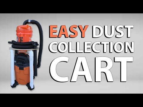 EASY Shop Vac Dust Cyclone Collection Cart | DIY Dustopper