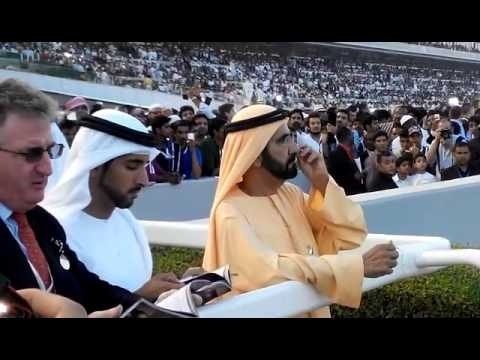 Dubai World Cup 2015: Shaikh Mohammed watches the race