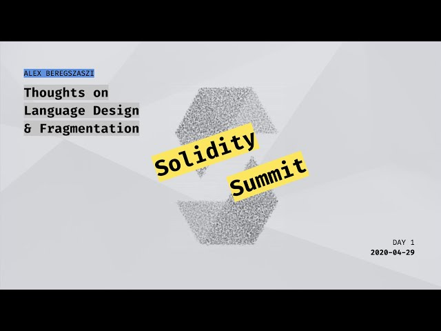 Thoughts on Language Design and Fragmentation by Alex Beregszaszi