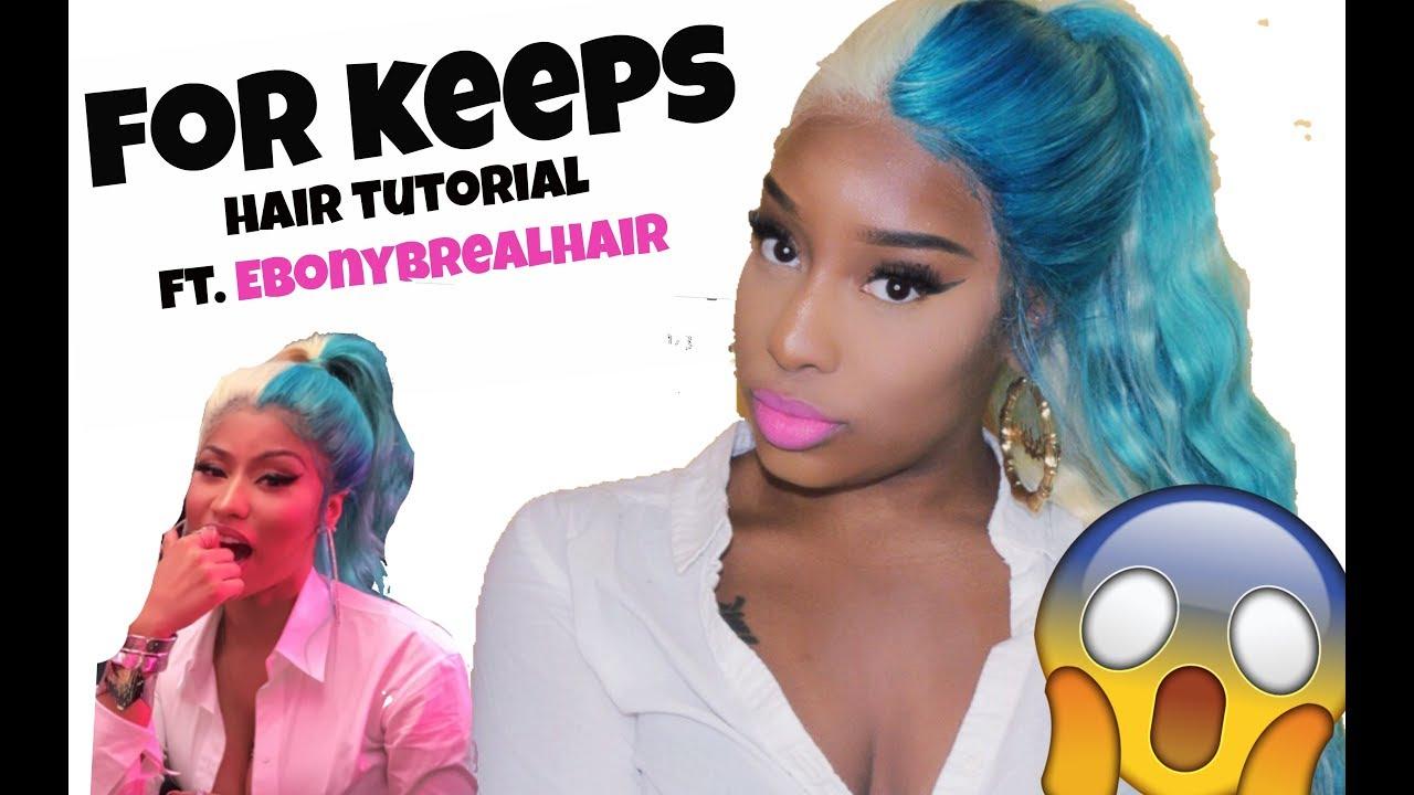 how to nicki minaj �she for keeps� turquoise amp blonde