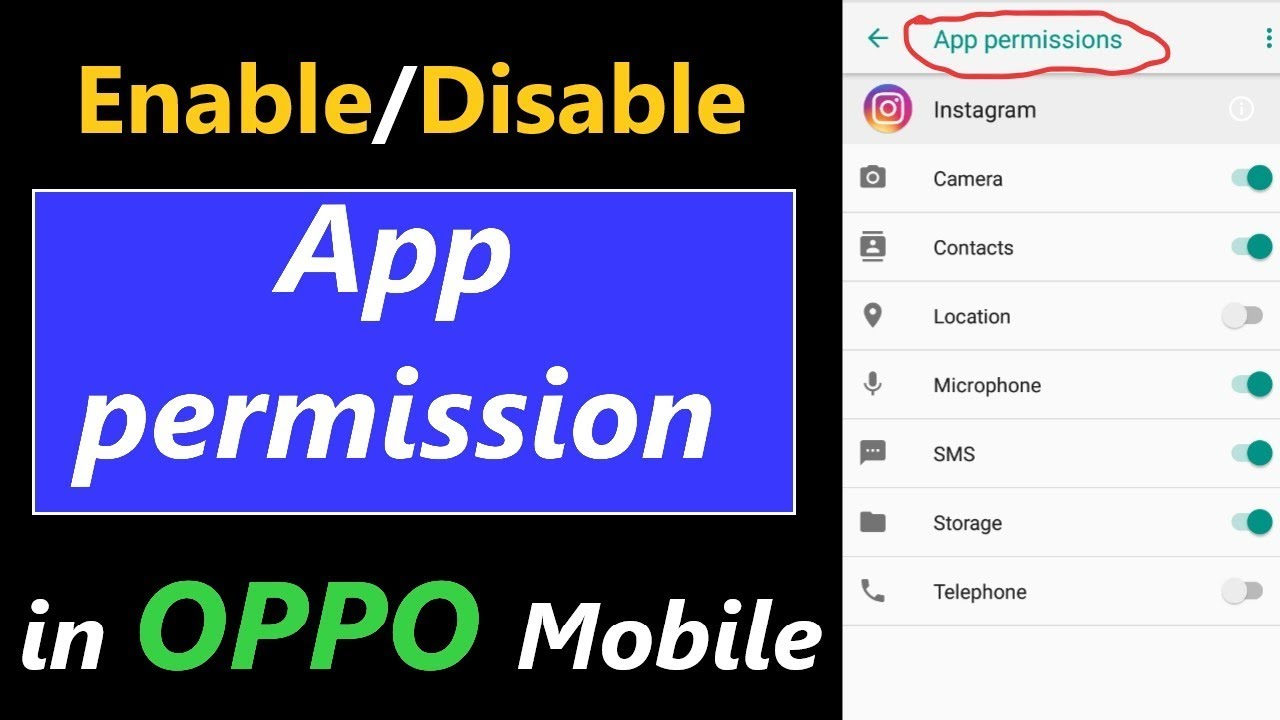 How to Enable and Disable App Permission in Oppo Mobile