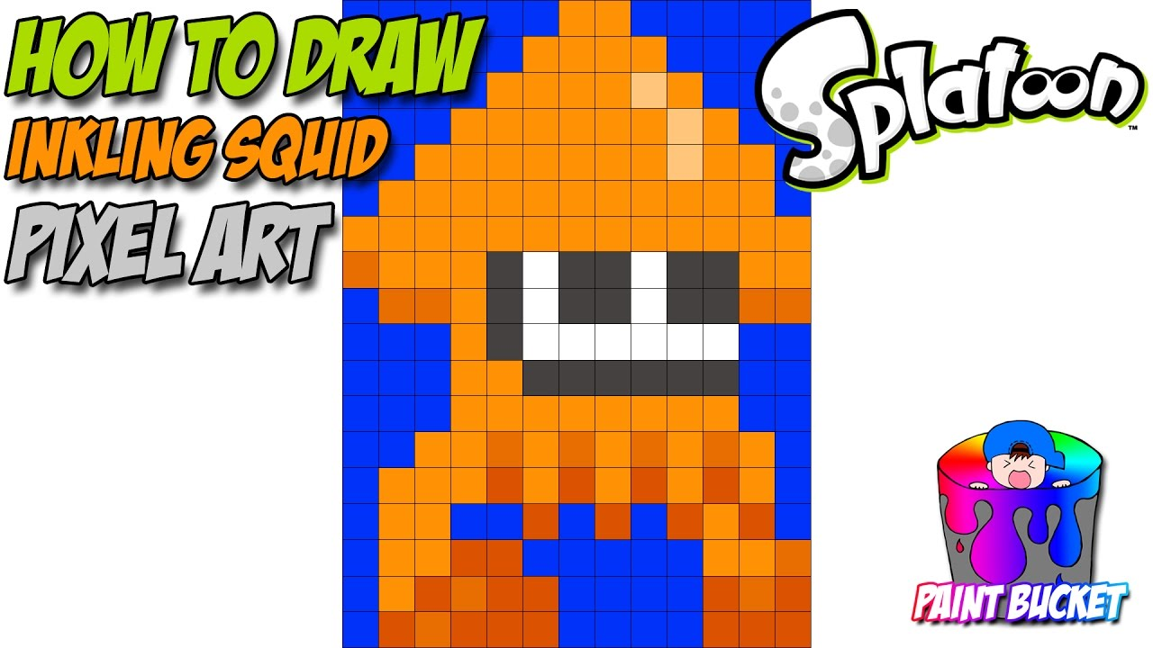 Drawing Lines With Pixels : How to draw splatoon inkling squid easy game art drawing