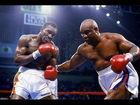 Evander Holyfield vs George Foreman - Highlights (HEAVYWEIGHT Battle of the Ages)