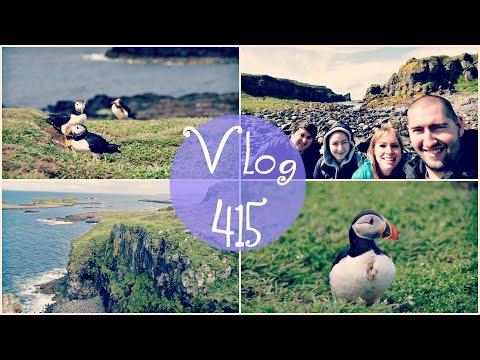 PLAYING WITH PUFFINS!   Isle of Staffa, Scotland Travel Vlog