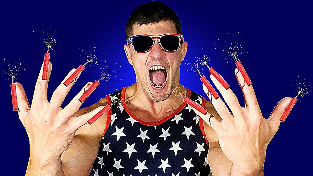 Fireworks VS My Fingernails Experiment *BIG MISTAKE* | Bodybuilder VS Crazy Firecracker Damage Test
