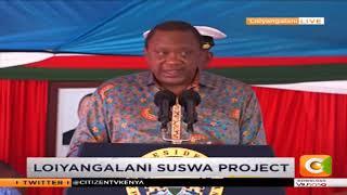 President Kenyatta commissions the Loiyangalani Suswa Project