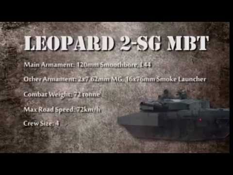 02aaee45a2e6 Singapore Army Leopard 2-SG MBT - YouTube