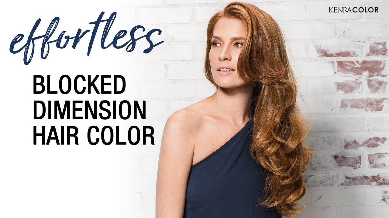 blocked dimension hair color