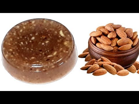 Homemade Almond Soap / Skin Glowing Almond Soap/ How To Make Almond Soap At Home/skin Whitening Soap