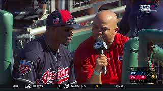 Rajai Davis focused on taking care of himself despite crowded Cleveland Indians outfield competition