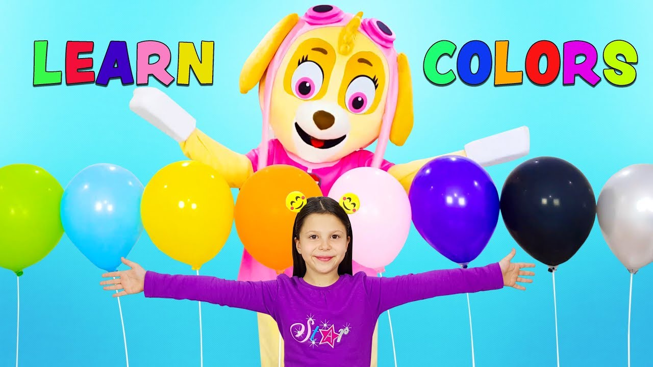 Download Ceylin-H & Skye - Finger Family Colors Song - Learn Colors with Balloons Nursery Rhymes & Kids Songs