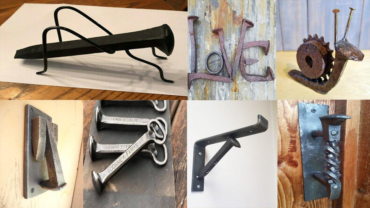 100 Fun Railroad Spike Welding Projects / scrap metal art / easy fun welding projects for beginners