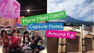Travel Japan, Mt Fuji, Mario themed Maid Cafe, Capsule Hotel, Fuji Q and Japanese Ryokan! Tokyo!