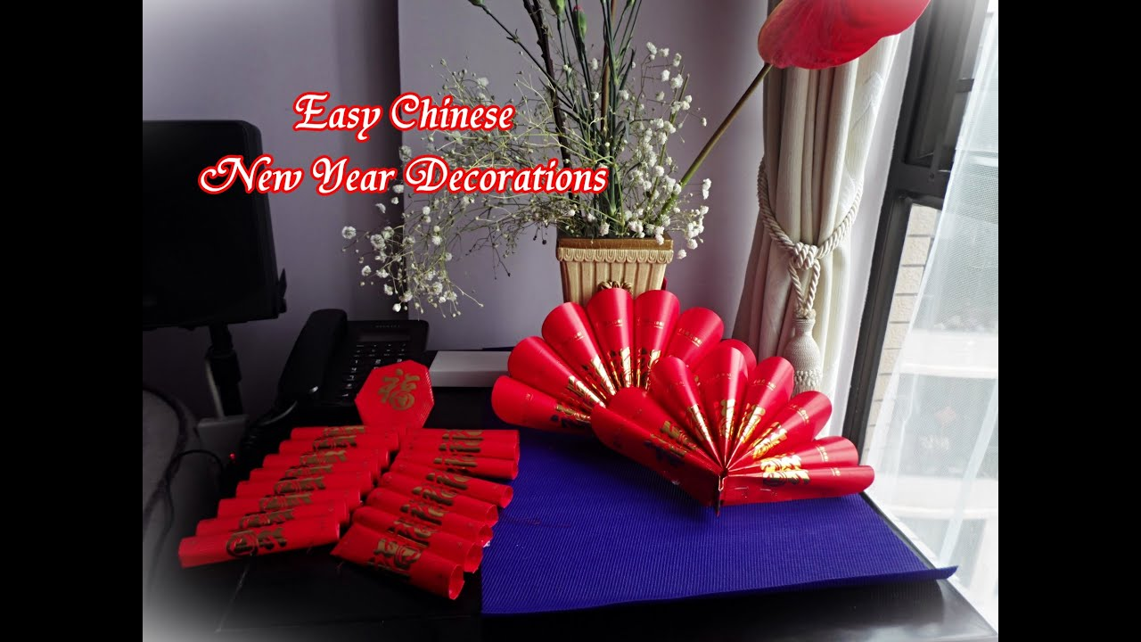 Quick and easy chinese new year decoration youtube for Chinese decorations