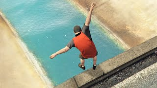 GTA 5 Funny Parkour Jumps/Falls ep.1